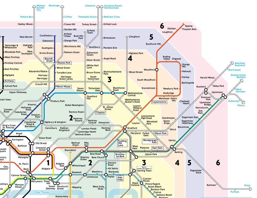 Mappa Londra Cartina Metropolitana Di Londra Zona 1 6