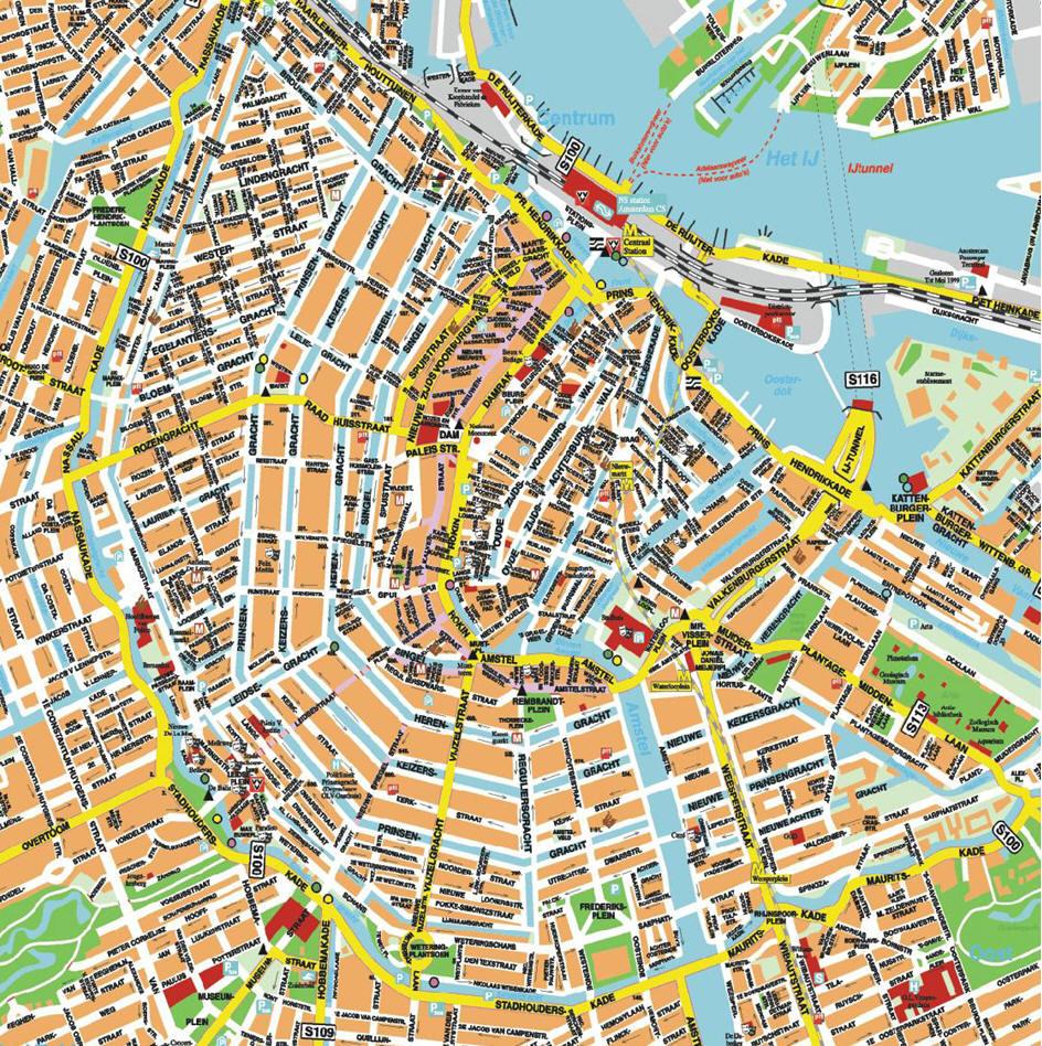 Cartina Amsterdam.Mappa Di Amsterdam Cartina Di Amsterdam