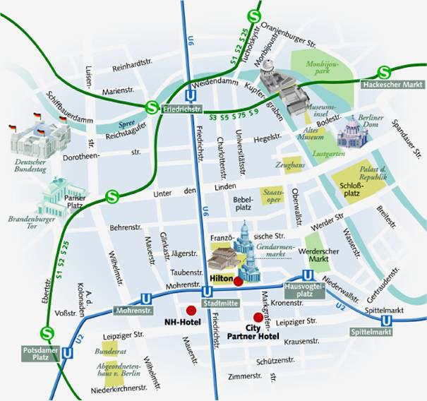 Pianta Muro Berlino : Mappa di berlino cartina