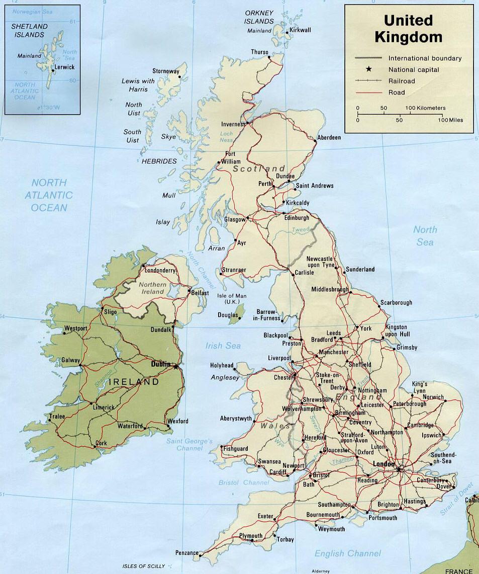 Mappa della gran bretagna cartina della gran bretagna for Soggiorni londra