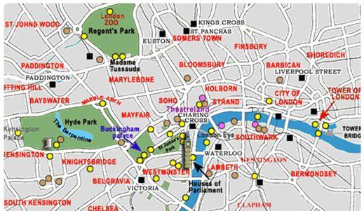 Londra Cartina Zone.Zone Di Londra Quartieri Di Londra